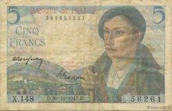 5 Francs BERGER FRANCE  1947 F.05.07 TB
