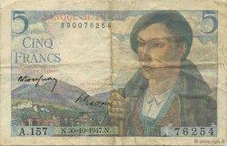 5 Francs BERGER FRANCE  1947 F.05.07 TTB