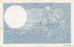 10 Francs MINERVE modifié FRANCE  1941 F.07.28 SUP+