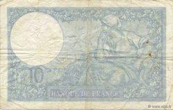10 Francs MINERVE modifié FRANCE  1941 F.07.30 B à TB