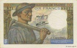 10 Francs MINEUR FRANCE  1944 F.08.10 SUP+
