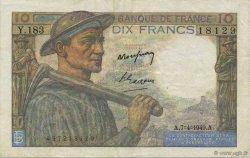 10 Francs MINEUR FRANCE  1949 F.08.21 SUP