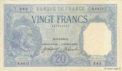20 Francs BAYARD FRANCE  1919 F.11.04 pr.SUP