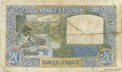 20 Francs SCIENCE ET TRAVAIL FRANCE  1940 F.12.10 pr.TB