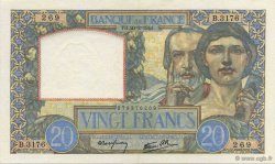20 Francs TRAVAIL ET SCIENCE FRANCE  1941 F.12.12 SPL