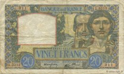 20 Francs SCIENCE ET TRAVAIL FRANCE  1941 F.12.13 TB+