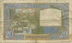 20 Francs SCIENCE ET TRAVAIL FRANCE  1941 F.12.13 TB+