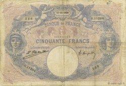 50 Francs BLEU ET ROSE FRANCE  1924 F.14.37 B+