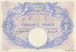 50 Francs BLEU ET ROSE FRANCE  1924 F.14.37 TB+