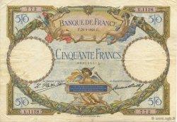 50 Francs LUC OLIVIER MERSON FRANCE  1927 F.15.01 TB à TTB