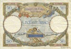 50 Francs LUC OLIVIER MERSON type modifié FRANCE  1930 F.16.01 TTB