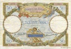 50 Francs LUC OLIVIER MERSON type modifié FRANCE  1931 F.16.02 pr.TTB