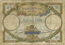 50 Francs LUC OLIVIER MERSON type modifié FRANCE  1934 F.16.05 B