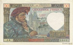 50 Francs JACQUES CŒUR FRANCE  1940 F.19.01 SUP
