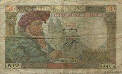 50 Francs JACQUES CŒUR FRANCE  1941 F.19.17 B