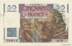 50 Francs LE VERRIER FRANCE  1947 F.20.09 SUP+