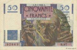 50 Francs LE VERRIER FRANCE  1948 F.20.10 SUP à SPL
