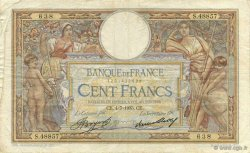 100 Francs LUC OLIVIER MERSON grands cartouches  FRANCE  1935 F.24.14 TB