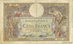 100 Francs LUC OLIVIER MERSON type modifié FRANCE  1937 F.25.03 B+