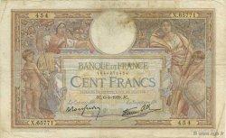 100 Francs LUC OLIVIER MERSON type modifié FRANCE  1939 F.25.45 pr.TB