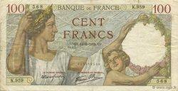 100 Francs SULLY FRANCE  1939 F.26.06 pr.TTB