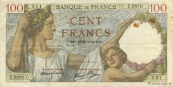 100 Francs SULLY FRANCE  1939 F.26.10 TTB
