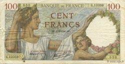 100 Francs SULLY FRANCE  1940 F.26.34 TTB