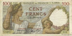 100 Francs SULLY FRANCE  1940 F.26.37 TB
