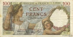 100 Francs SULLY FRANCE  1941 F.26.46 TTB