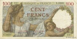 100 Francs SULLY FRANCE  1941 F.26.48 TTB
