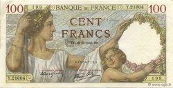 100 Francs SULLY FRANCE  1941 F.26.52 TTB+