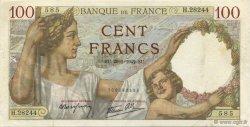 100 Francs SULLY FRANCE  1942 F.26.65 TTB