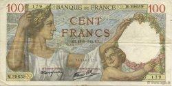100 Francs SULLY FRANCE  1942 F.26.68 TTB