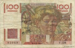 100 Francs JEUNE PAYSAN FRANCE  1946 F.28.10 TB