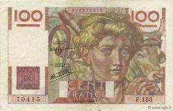 100 Francs JEUNE PAYSAN FRANCE  1946 F.28.11 TTB+