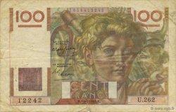 100 Francs JEUNE PAYSAN FRANCE  1948 F.28.19 TB