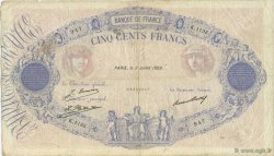 500 Francs BLEU ET ROSE FRANCE  1929 F.30.32 TB