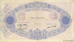 500 Francs BLEU ET ROSE FRANCE  1936 F.30.37 TB+