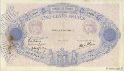 500 Francs BLEU ET ROSE modifié FRANCE  1938 F.31.14 TB+