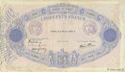 500 Francs BLEU ET ROSE modifié FRANCE  1939 F.31.24 TB