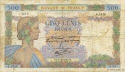 500 Francs LA PAIX FRANCE  1940 F.32.08 B+