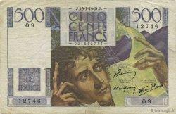 500 Francs CHATEAUBRIAND FRANCE  1945 F.34.01 pr.TTB