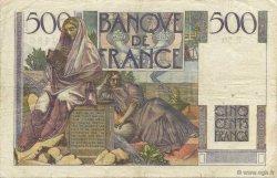 500 Francs CHATEAUBRIAND FRANCE  1945 F.34.03 TTB