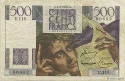 500 Francs CHATEAUBRIAND FRANCE  1952 F.34.10 pr.TTB