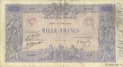 1000 Francs BLEU ET ROSE FRANCE  1925 F.36.41 TB