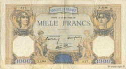 1000 Francs CÉRÈS ET MERCURE type modifié FRANCE  1938 F.38.14 TB+