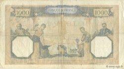 1000 Francs CÉRÈS ET MERCURE type modifié FRANCE  1938 F.38.25 TB+