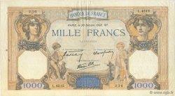 1000 Francs CÉRÈS ET MERCURE type modifié FRANCE  1938 F.38.30 TTB
