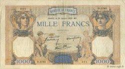 1000 Francs CÉRÈS ET MERCURE type modifié FRANCE  1939 F.38.33