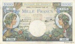 1000 Francs COMMERCE ET INDUSTRIE FRANCE  1940 F.39.03 TTB+